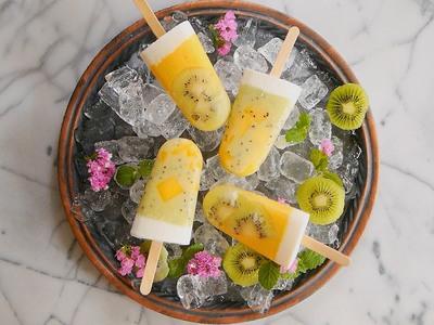 煉奶芒果奇異果冰棒